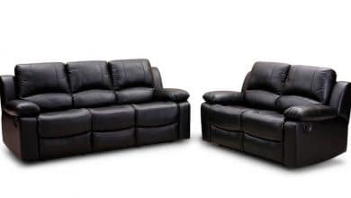 Dual Reclining Sofa with Cup Holders