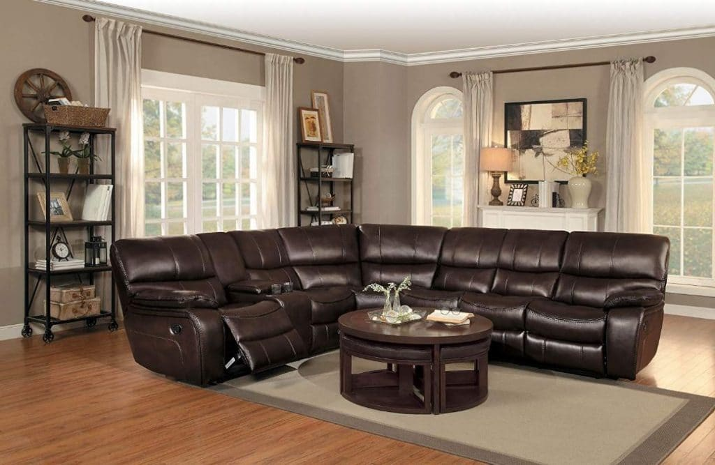 Reclining Sofa with Cup Holders